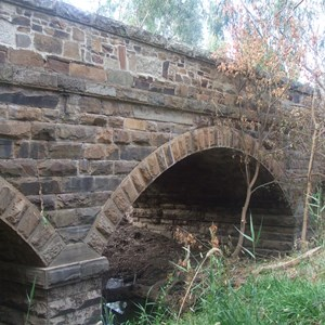 19th Century bridge over Hughes Ck, where Ned Kelly rescued a boy.