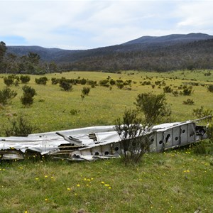 At DC-3 Wreck at Cowombat Flat