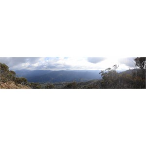Mt Thorn to right of Picture as seen from Picture Point on King Billy Track