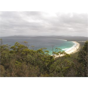 View from lookout on Green Cape road