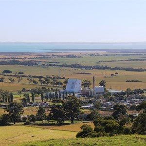 Part of the Town of Toora from the town lookout.