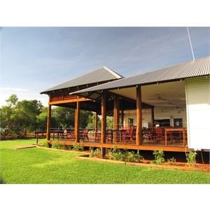 Viewing verandah at resort