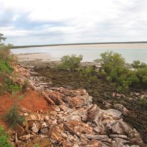 Cliffs at low tide