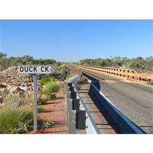 Bridge over Duck Creek east of Nanutarra