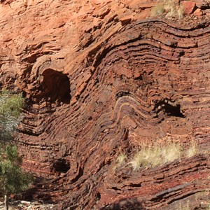 Tortured rock at Hamersley Gorge