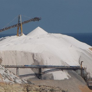 200,000 tonne salt stockpile