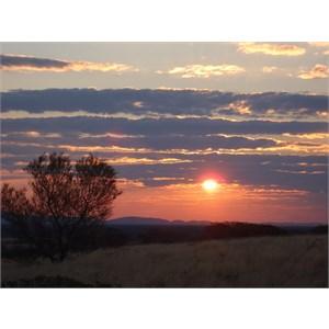 sunset near Burringurrah