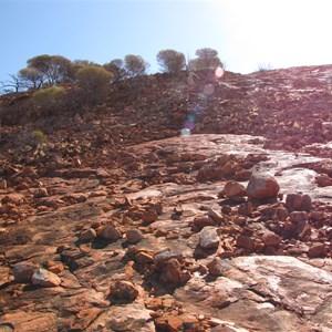 Blocky granite boulders