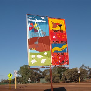 Shire and school sign
