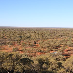 Gibson Desert to the east of McPherson Pillar (Viewed from the top of the pillar)