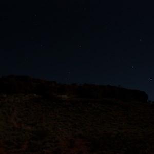Night scene at Hanns Tabletop Hill