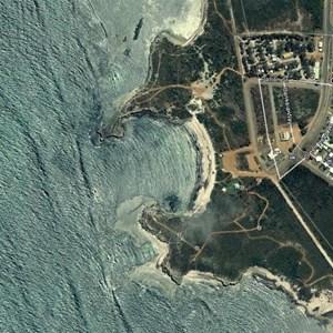 Dynamite Bay courtesy of Google Earth.