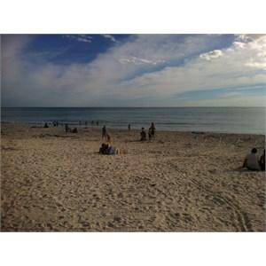 The beach & water