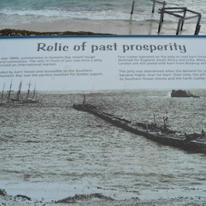 Hamelin Bay interpretive sign