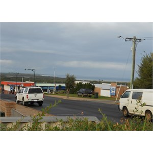 Flinders Bay from Augusta hardware store
