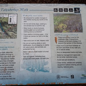 Talyuberlup Peak Walk Trail Sign