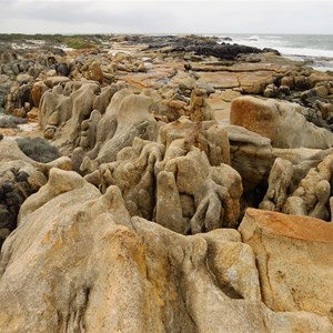 Eroded rock formations