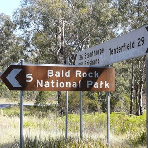 To Bald Rock NP