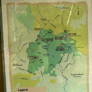 Map of Werrikimbe NP