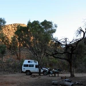 camp site at John Hayes Rockhole section