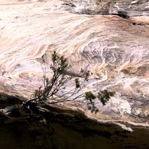 Erosion in the rocks of the gorge