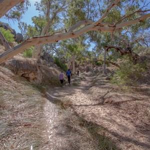 Walk along creek to main cave entrance