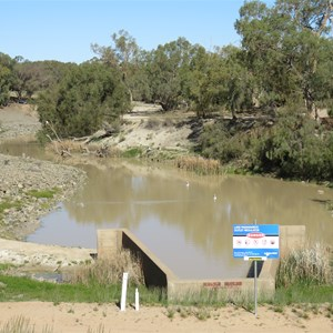 Water can return to Darling River here