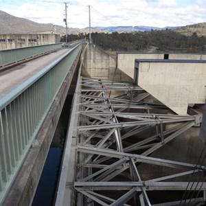 Spillway steelwork