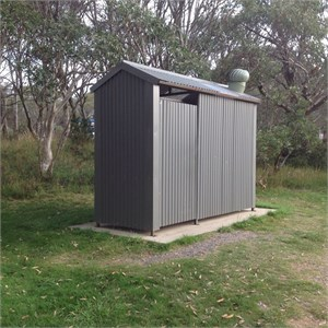 Drop Toilet at Campground