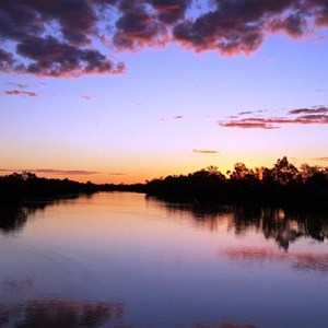 Sunset on the waterhole