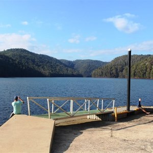 The landing dock at the Lake Barrington launching ramp.