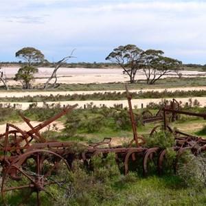 Old salt harvesting machinery