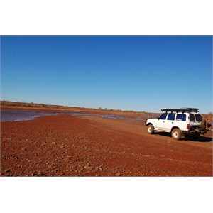 Crossing Fortescue River at Low Tide