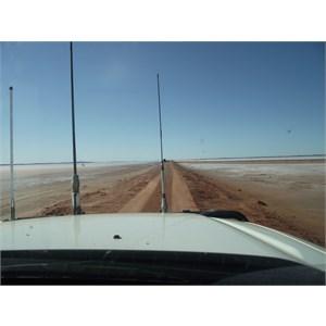 road across lake (no access)