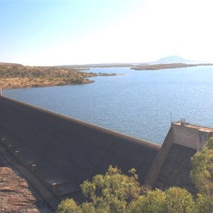 The completed Burdekin Falls Dam