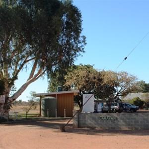 Main gate of Windorah Caravan Park