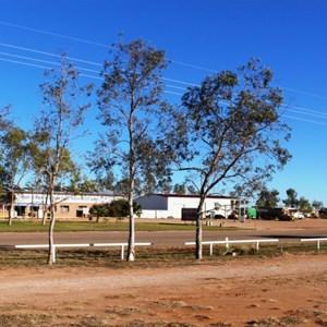 Simpson Desert Road House viewed from the caravan park