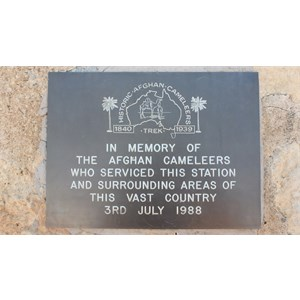 Cordillo Downs Woolshed, 15 June 2018...plaque on the outside wall