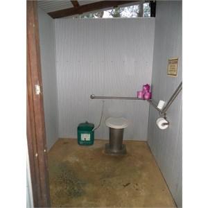 Typical DEC long drop toilet
