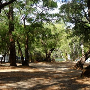Boat ramp camp area