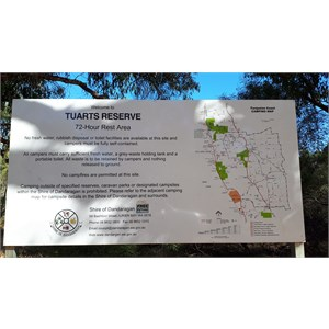 Signboard with campers info