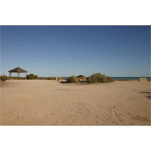 General lay of the campsite area at Bush Bay