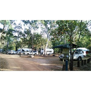 Caravan spaces are located near the entrance.