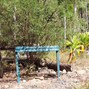 Upper Stony walking tracks sign