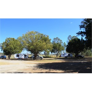 Part of the camping area at Gin Gin rest area