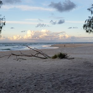 Inskip Point camping by the beach
