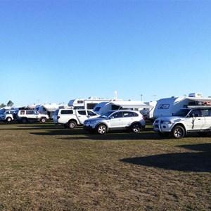 Parked vans at Mareeba