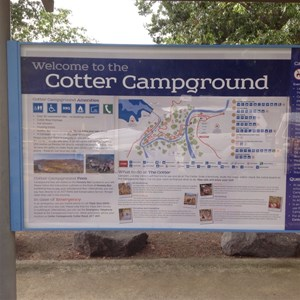 Entry billboard to Campground