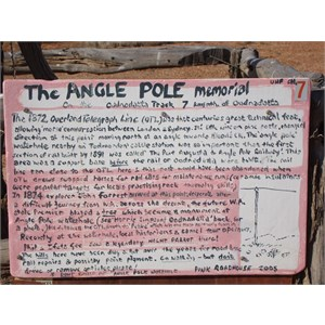 Description of The Angle Pole  Oodnadatta track