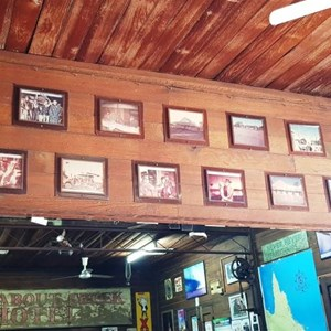 Historic photos above the bar